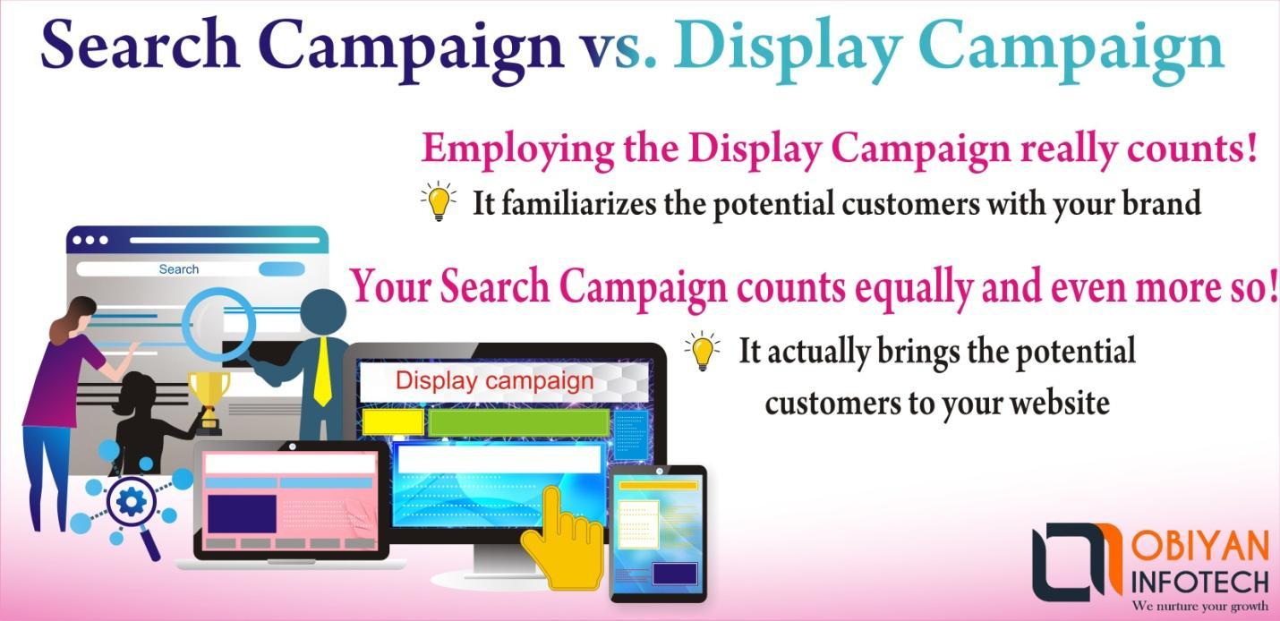 Search Campaign vs. Display Campaign